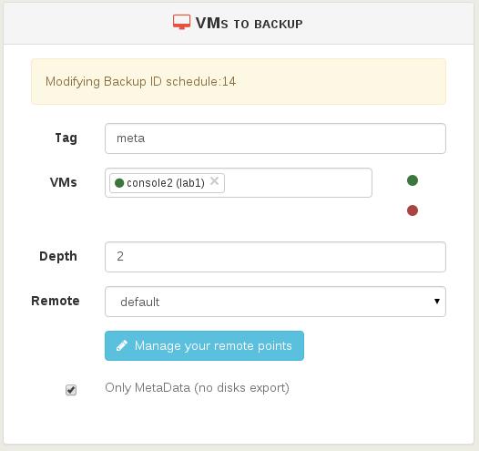 Checkbox metadata